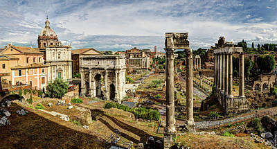 Photograph - Roman Forum From Tabularium by Weston Westmoreland