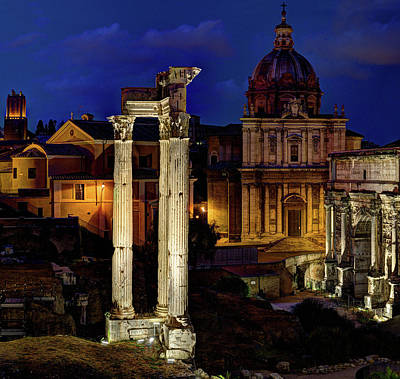 Photograph - Roman Forum Giant Panorama 1 Of 3 by Weston Westmoreland