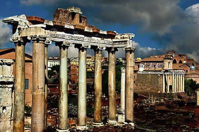 Art Print featuring the photograph Roman Forum by Harry Spitz
