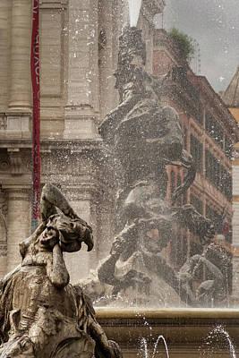 Photograph - Roman Fountain by Alex Saunders