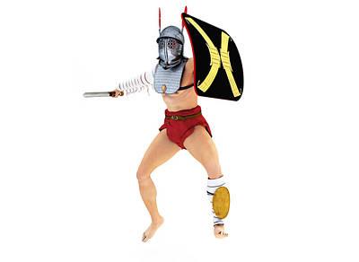 Gorgon Digital Art - Roman Gladiator Provocator by Leone M Jennarelli