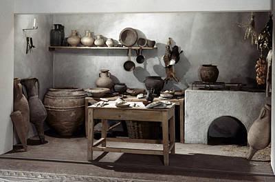 Roman Kitchen, 100 A.d Print by Granger