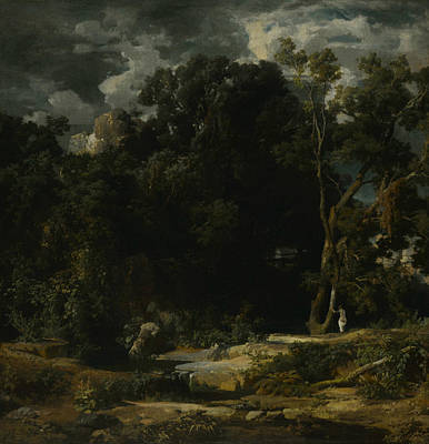 Painting - Roman Landscape by Arnold Bocklin