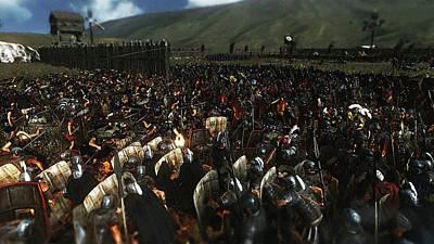 Painting - Roman Legion In Battle - 14  by Andrea Mazzocchetti