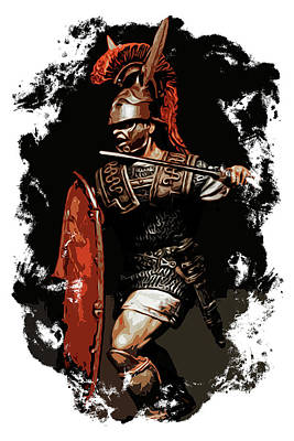 Roman Legionary At War Art Print