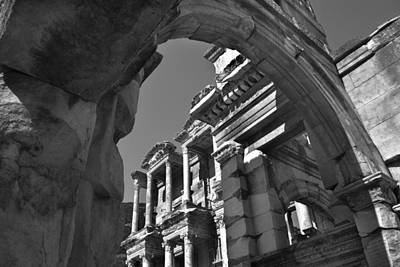 Photograph - Roman Library by Terence Davis