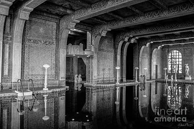 Roman Pool, Black And White Art Print
