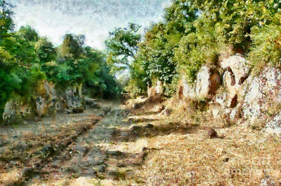 Painting - Roman Road by Giuseppe Cocco