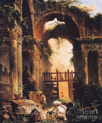Old Street Painting - Roman Ruins by MotionAge Designs