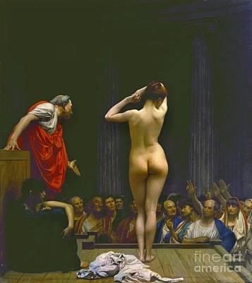 Roman Slave Auction 1884 Art Print by Padre Art