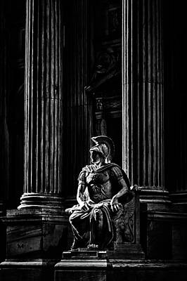 Photograph - Roman Soldier In Nyc. No6 by Val Black Russian Tourchin