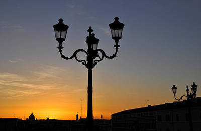 Photograph - Roman Street Lamp by Andrew Dinh