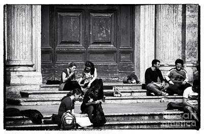 Roman Study Break Art Print by John Rizzuto