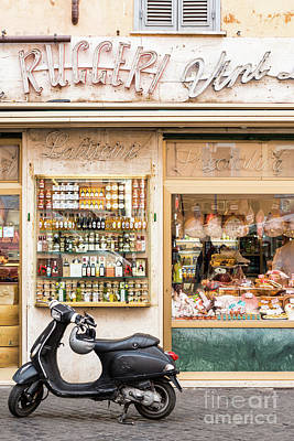 Photograph - Roman Vespa On Campo De' Fiori by Andrew Michael