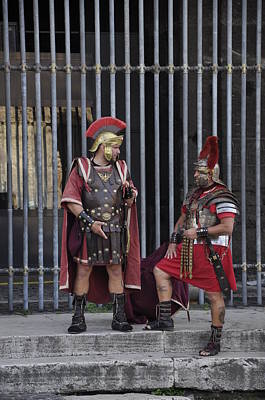 Photograph - Roman Warriors by Andrew Dinh