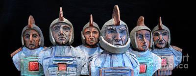 Roman Warriors - Bust Sculpture - Roemer - Romeinen - Antichi Romani - Romains - Romarere Print by Urft Valley Art