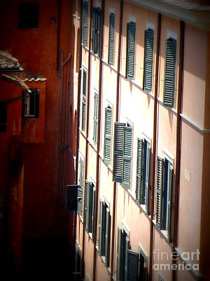 Terra Cotta Digital Art - Roman Windows by Carol Groenen