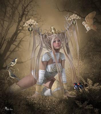 Digital Art - Romana The Queen Of Locke Forest by Ali Oppy