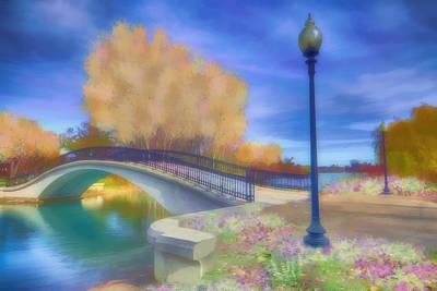 Digital Art - Romance At Elizabeth Park Bridge by Ruth Moratz