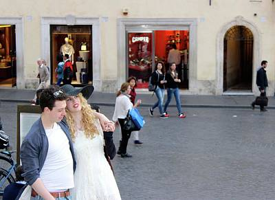 Photograph - Romance In Rome by Janice Aponte