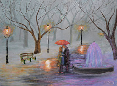 Romance In The Park Original by Ken Figurski