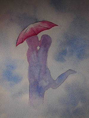 Painting - Romance In The Rain by Rod Stewart