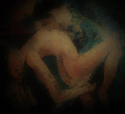 Annette Kinship Wall Art - Painting - Romance Indigo by Annette Kinship