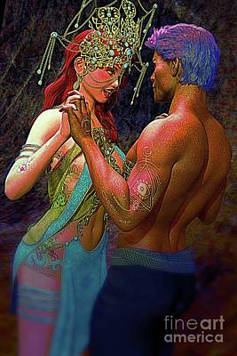 Digital Art - Romance by MAW CG Art
