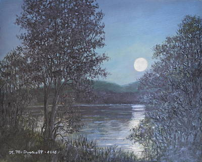 Painting - Romance Of The Moon by Kathleen McDermott