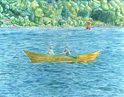 Painting - Romance On Hussey Sound by Dominic White