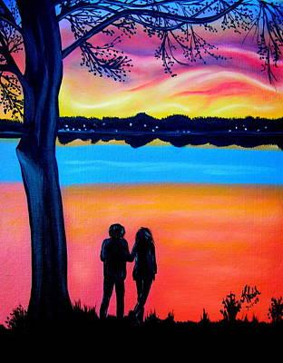 Romance On The Bay Art Print