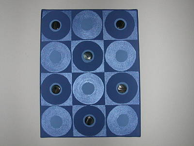 Romancing The Blue Stone Art Print by Gay Dallek