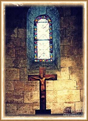 Photograph - Romanesque Langon Chapel by Sarah Loft