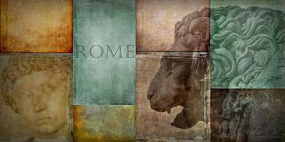 Sculptural Collage Digital Art - Romanesque by Patricia Strand