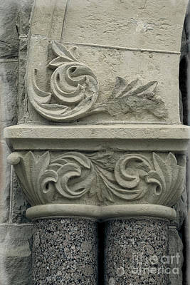 Photograph - Romanesque Style - Building Macro by Ella Kaye Dickey