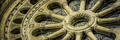 Door Locks And Handles Rights Managed Images - Romanesque Wheel Royalty-Free Image by Scott Norris