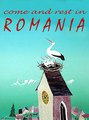 Stork Wall Art - Painting - Romania, Stork On Village Watch Tower by Long Shot