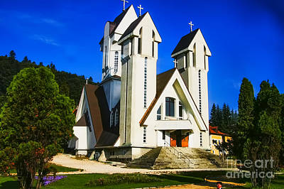 Romanian Church Art Print by Rick Bragan