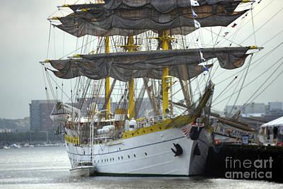 Romanian Tall Ship Art Print by Jim Beckwith