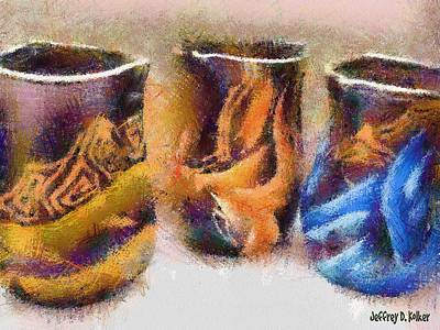 Painting - Romanian Vases by Jeff Kolker