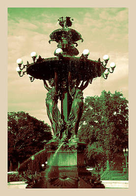 Photograph - Romantic 19th Century Fountain - Art Nouveau Jugendstil by Art America Gallery Peter Potter