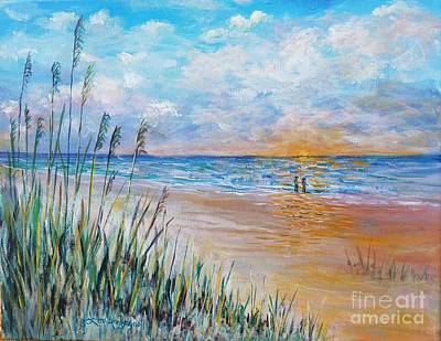 Painting - Romantic Beach by Lou Ann Bagnall