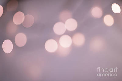 Photograph - Romantic Bokeh Background by Anna Om