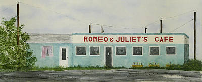 Painting - Romantic Cafe by Jerry Kelley