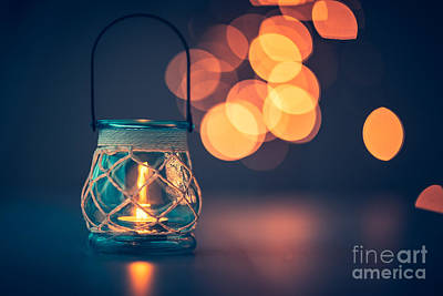 Photograph - Romantic Candlelight Atmosphere by Anna Om