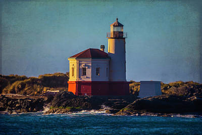 Coquille River Lighthouse Photograph - Romantic Coquille River Lighthouse by Garry Gay