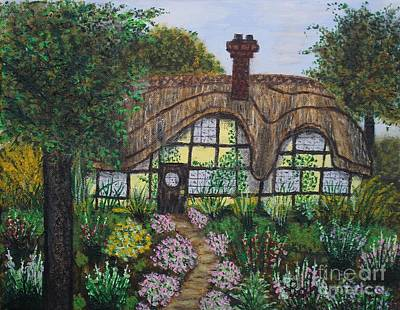 English Ivy Painting - Romantic Cottage by William Ohanlan