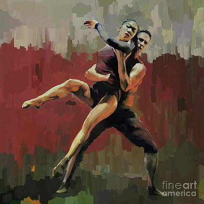 Painting - Romantic Couple Dance by Gull G