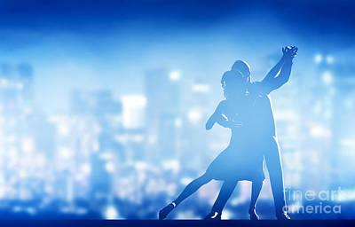 Disco Photograph - Romantic Couple Dance by Michal Bednarek