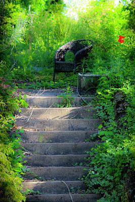 Staris Photograph - Romantic Garden Scene by Teresa Mucha